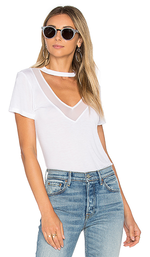Project Social T Richie Mesh Mix Tee in White