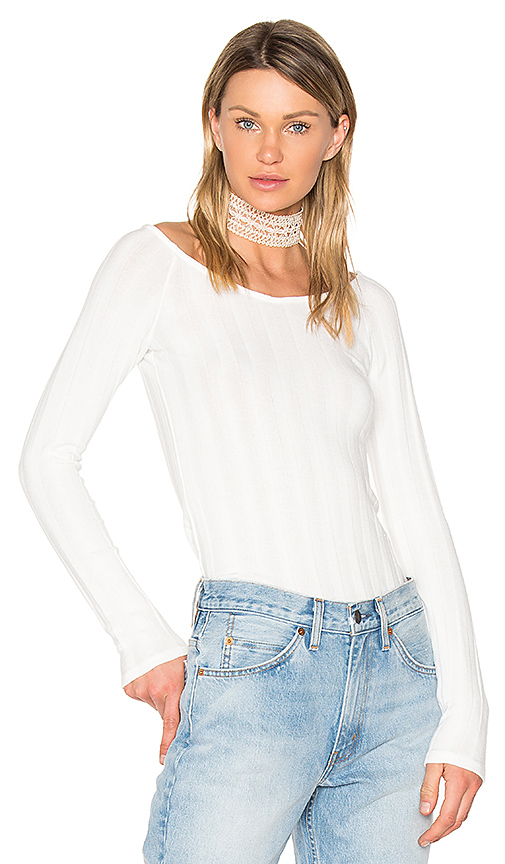 Project Social T Retrograde Off Shoulder Top in Taupe. - size M (also in S,XS)