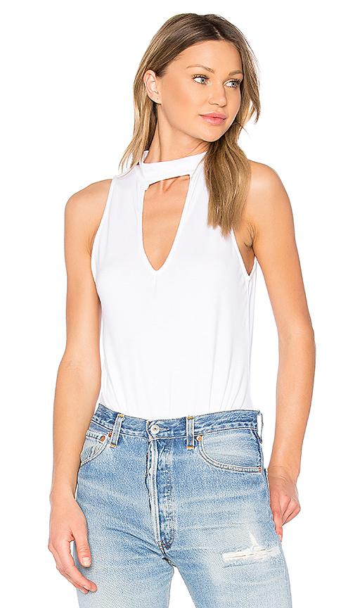 Project Social T Chelsea Choker Bodysuit in White