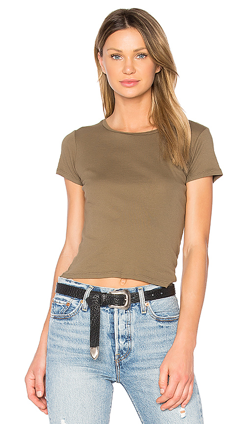 Project Social T Tiny Crew Neck Tee in Army