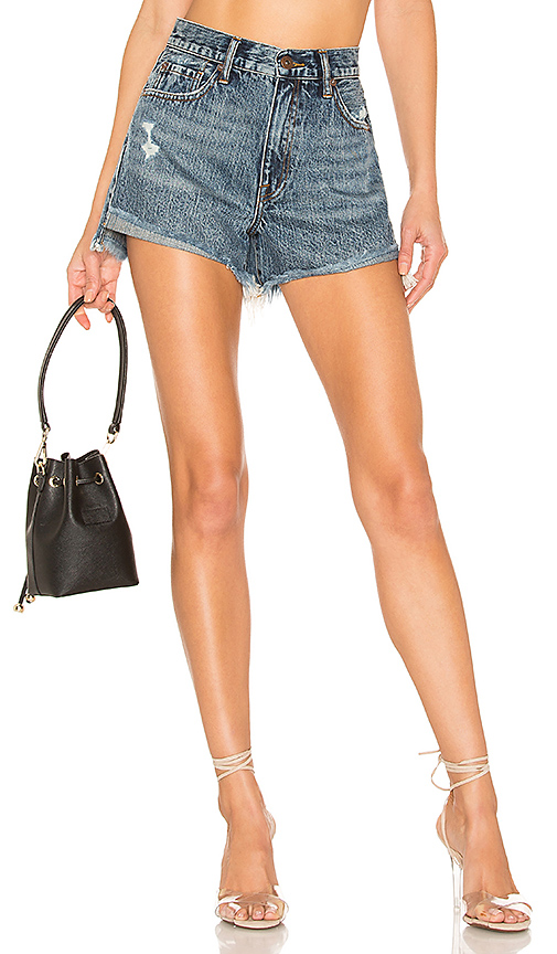 PISTOLA | PISTOLA Kylee Relaxed High Rise Short In Blue. - Size 25 (Also In 24) | Goxip