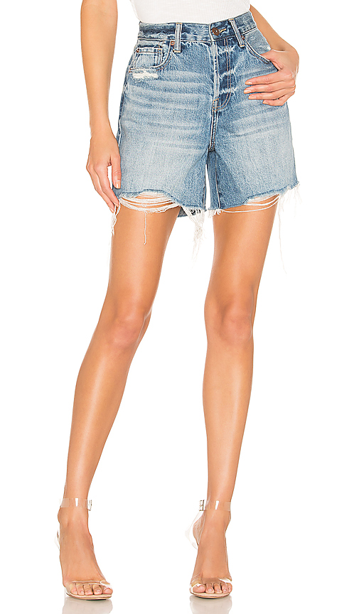 PISTOLA | PISTOLA Devin High Rise Cut Off Short In Blue. - Size 27 (Also In 24,25,26) | Goxip