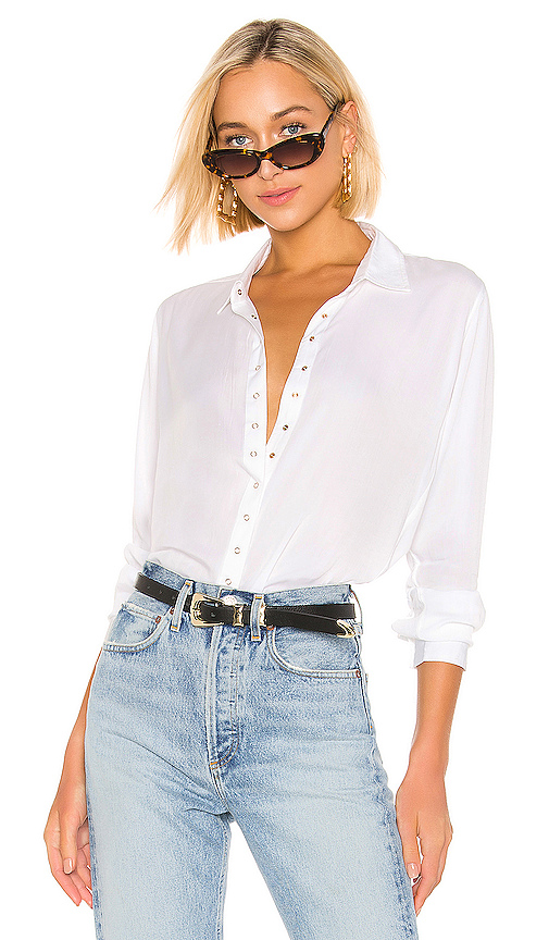 PISTOLA | PISTOLA Button Down Top In White. - Size XS (Also In L,M,S) | Goxip