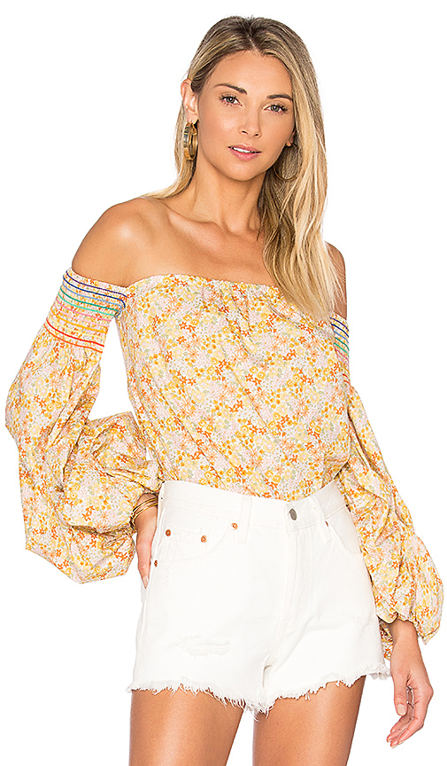 Petersyn Audrey Top in Yellow