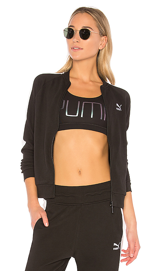Puma Archive Logo T7 Track Jacket in Black