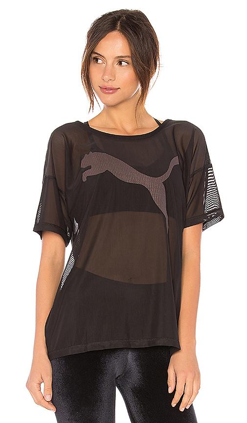 Puma Dancer Drapey Tee in Black