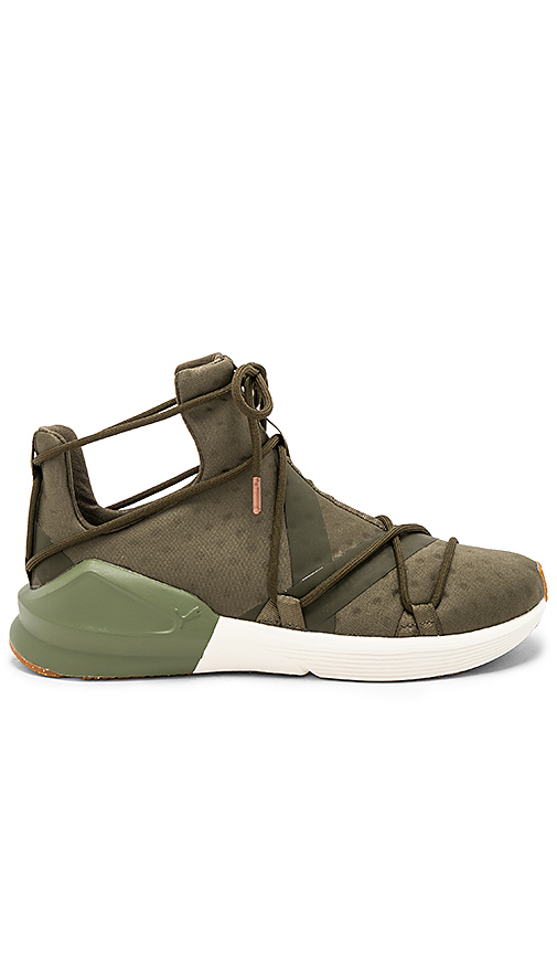 Puma Fierce Rope Sneaker in Army