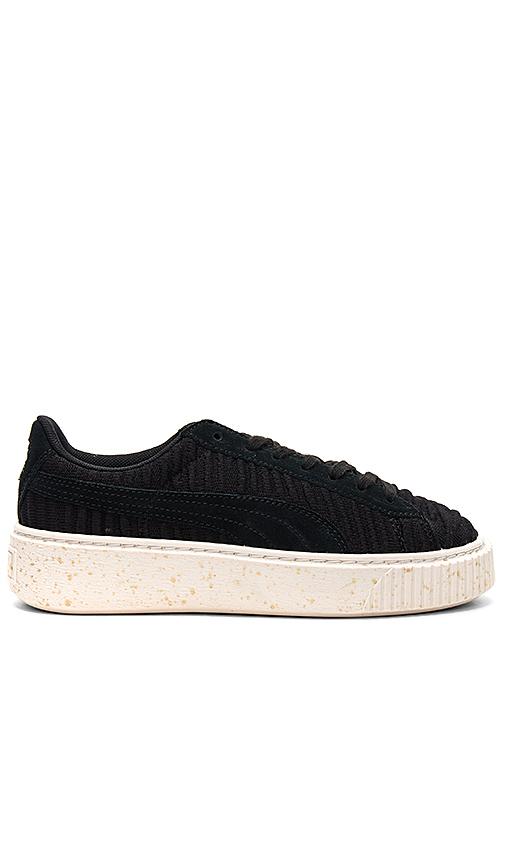 Puma Basket Platform Sneaker in Black