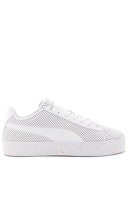 Puma Select x Daily Paper Platform Knit Splat in White. - size 10 (also in 10.5,11,11.5,12,7,7.5,8,8.5,9,9.5)