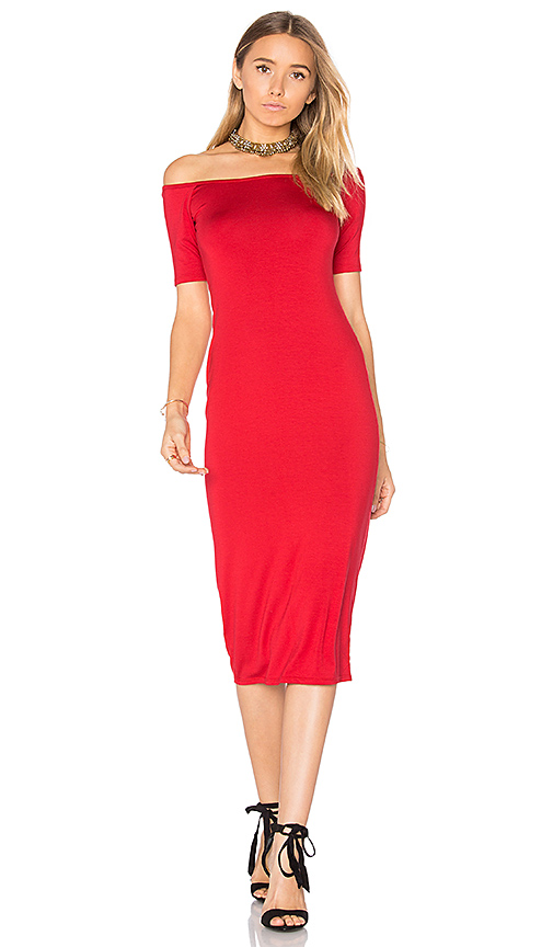 Rachel Pally Jagger Midi Dress in Red