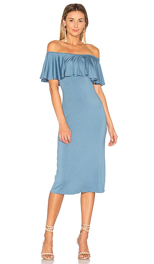 Rachel Pally Ruffle Midi Dress in Blue. - size M (also in L,S,XS)