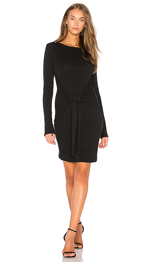 Rachel Pally Pique Tie Front Dress in Black