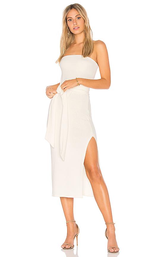 Rachel Pally Luxe Rib Bow Dress in Ivory