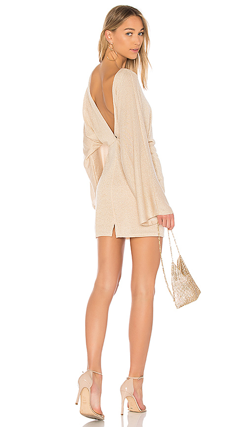 Rachel Pally Lenah Sweater Dress in Metallic Gold. - size S (also in M)