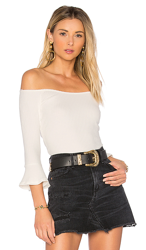 Rachel Pally Rib Nate Top in White