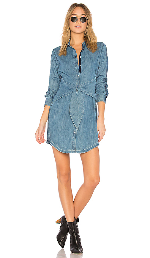 rag & bone/JEAN Destroyed Sadie Dress in Blue