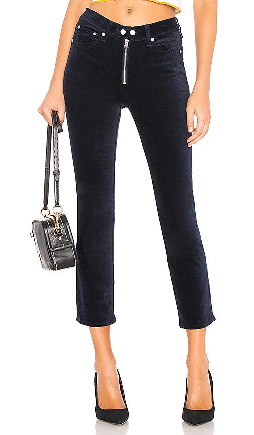 rag & bone/JEAN Dojo Velvet Pant in Blue. Size 29,23,25.