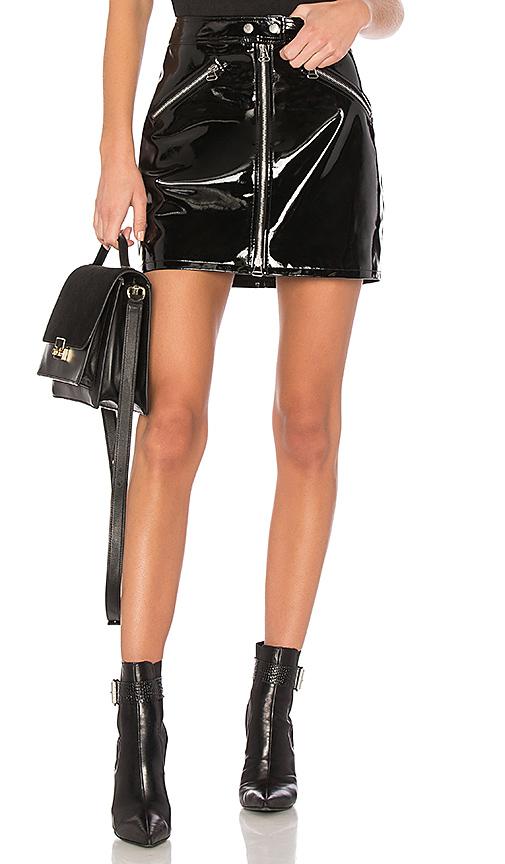 rag & bone/JEAN Racer Skirt in Black. - size 23 (also in 24,25,26,27,28,29)