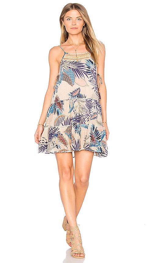 Raga Tropic Vibes Short Dress in Tan