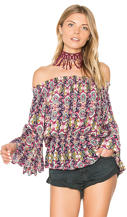 Photo of Raga Mambai Off Shoulder Top in Navy - shop Raga tops sales
