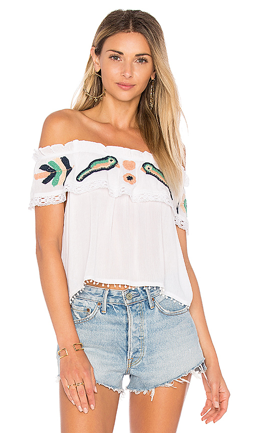 Raga Love Birds Top in White