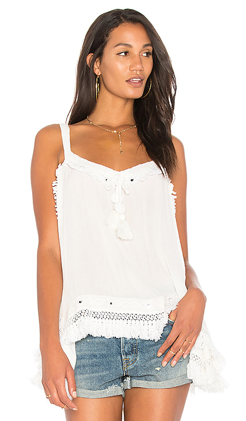 Raga Fringe With Benefits Tank in Ivory