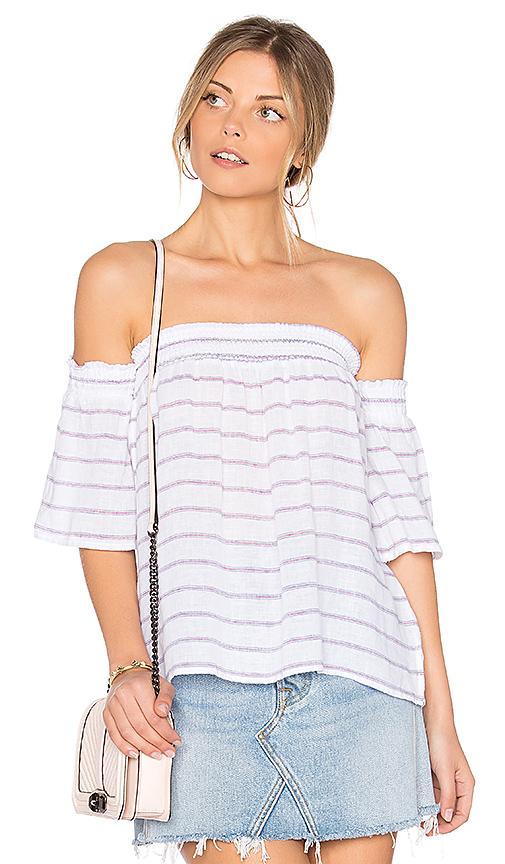 Rails Isabelle Off Shoulder Top in White
