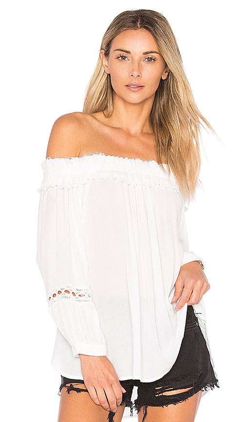 Rails Talia Off the Shoulder Top in White