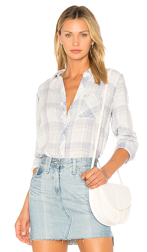 Rails Hunter Button Up in Blue