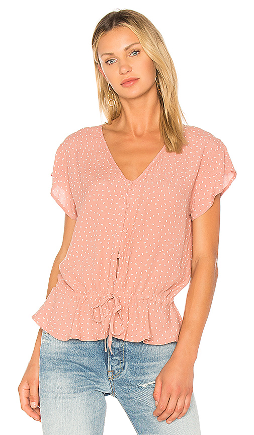 Rails Bretton Blouse in Pink. - size L (also in M,S,XS)