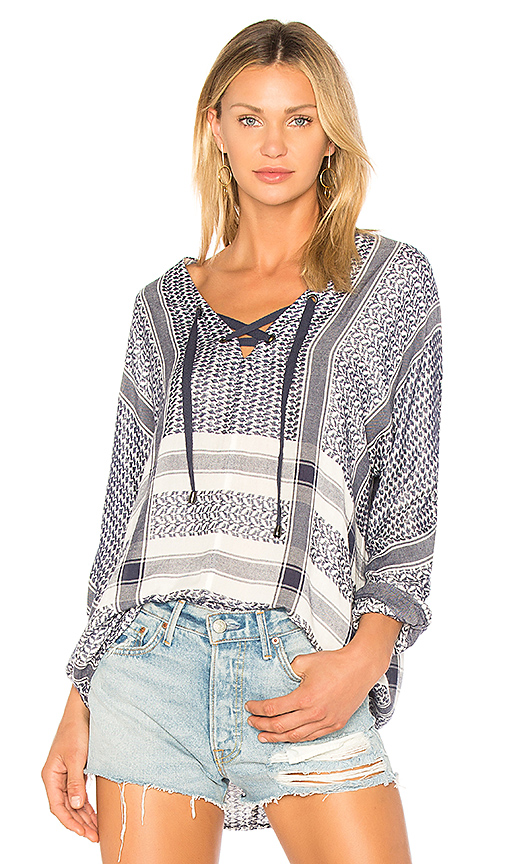 Rails Lily Blouse in Blue