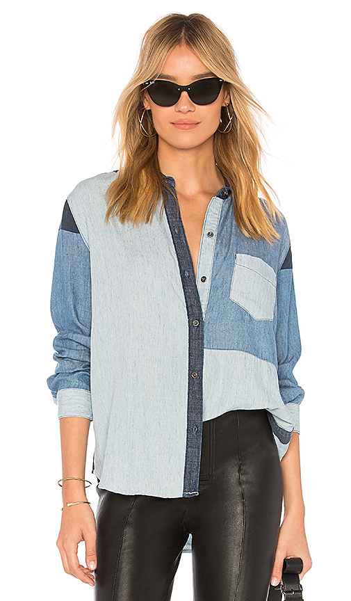 Rails Zoey Button Up in Blue