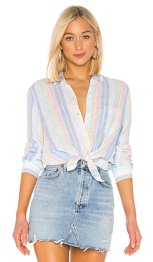 Rails Tops RAILS CHARLI BLOUSE IN BABY BLUE.
