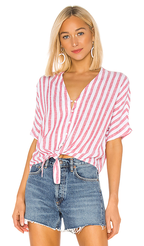 Rails Tops RAILS THEA BUTTON DOWN IN RED.
