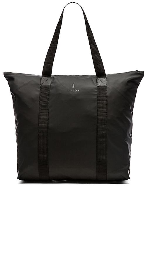 Rains Tote Bag in Black.