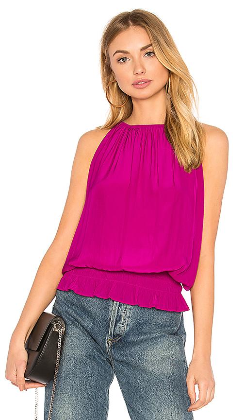RAMY BROOK Sleeveless Lauren Top in Pink
