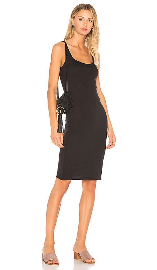 Raquel Allegra Layering Tank Dress in Black