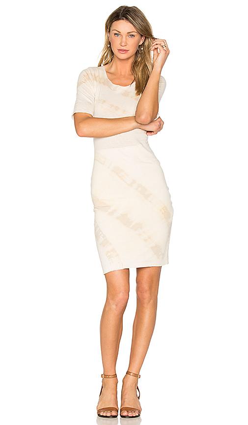 Raquel Allegra Signature Fitted Dress in Beige