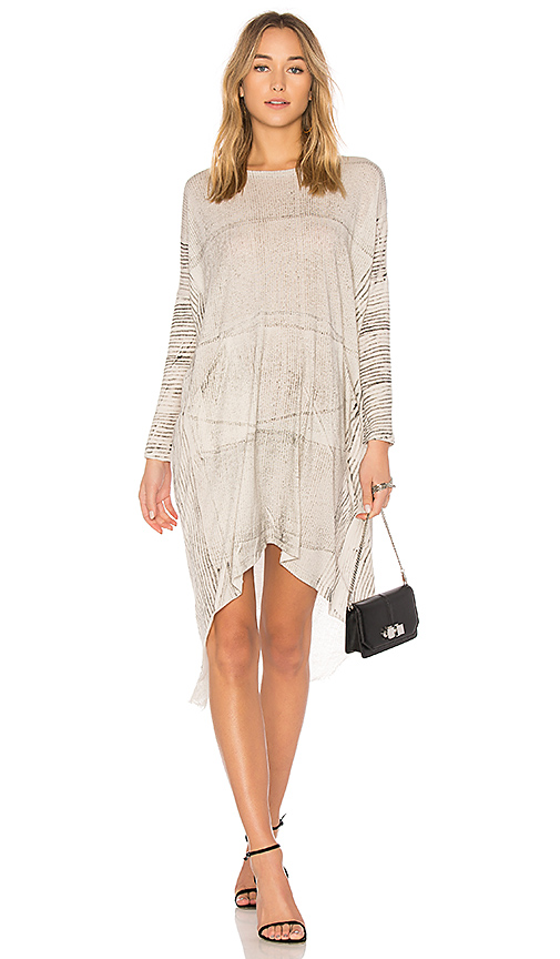 Raquel Allegra Oversized Dress in Gray