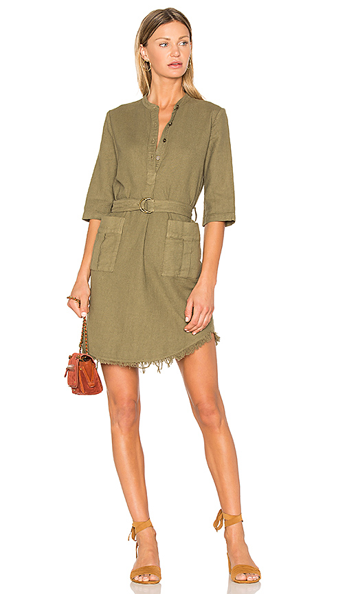 Raquel Allegra Henley Cargo Dress in Army