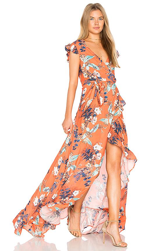 RAVN Galla Dress in Orange