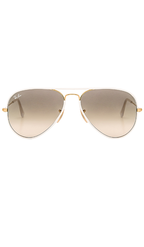 Ray-Ban Aviator Full Color in White
