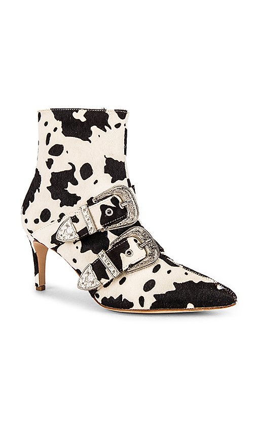 RAYE Lasso Bootie in White,Brown