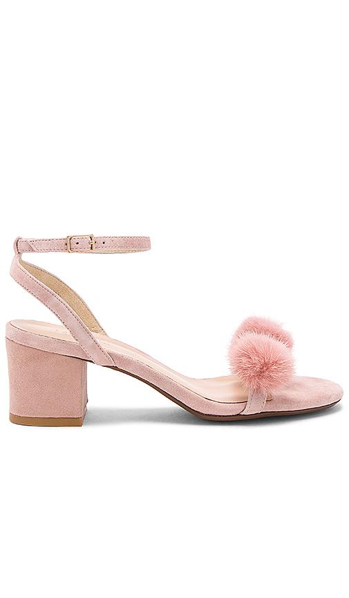 RAYE x REVOLVE Amara Mink Fur Sandal in Blush