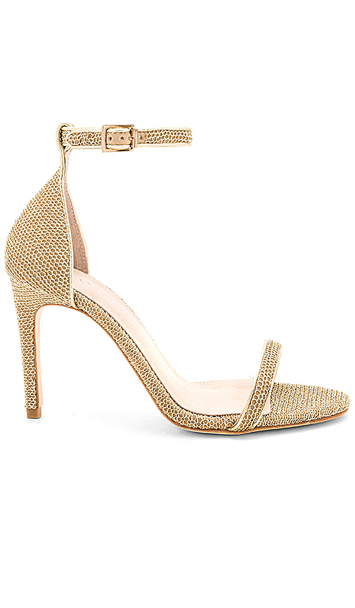 RAYE Kalene Heel in Metallic Gold