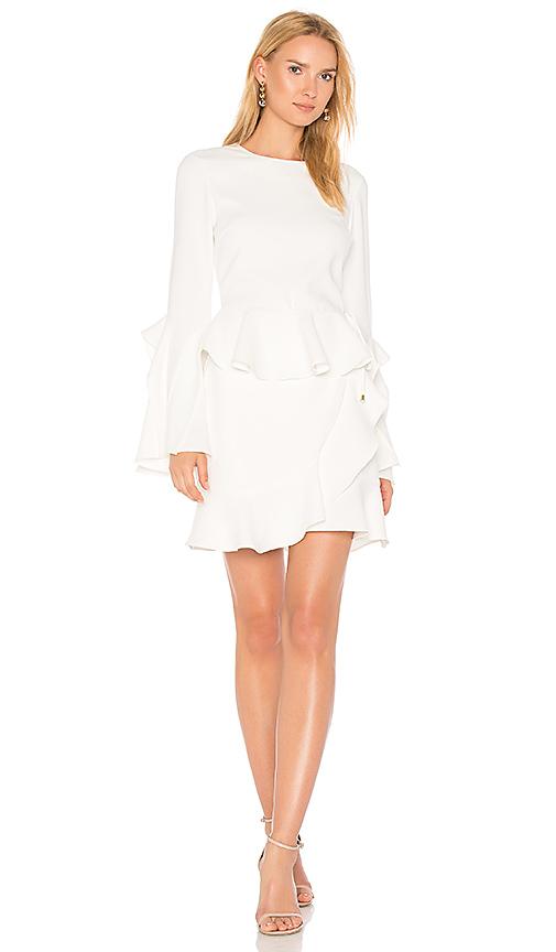 Rebecca Vallance El Chino Flare Sleeve Mini Dress in White. - size 10/M (also in 12/L,6/XS,8/S)