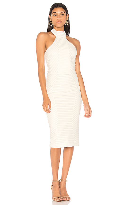 Rebecca Vallance Avila Halter Dress in Ivory