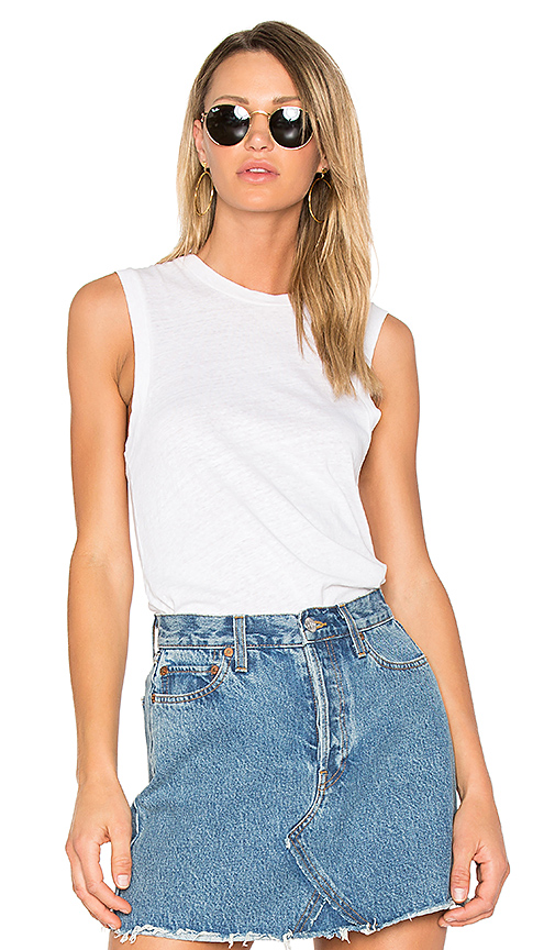 RE/DONE Muscle Tank in White