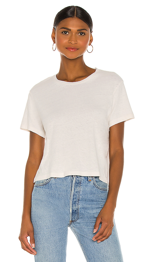 RE/DONE 1950's Boxy Tee in White