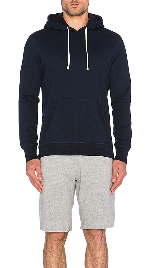 Reigning Champ Core Pullover Hoodie in Navy. - size S (also in XXL)